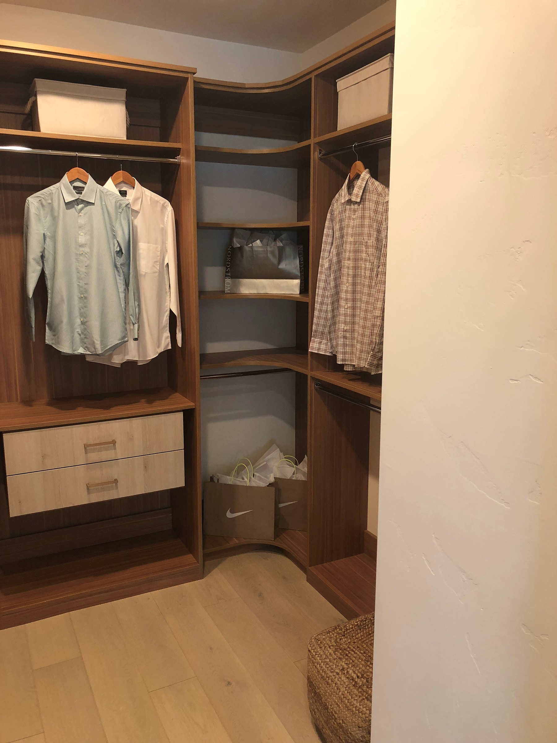Building A Luxury Walk In Closet For A High End Summerlin