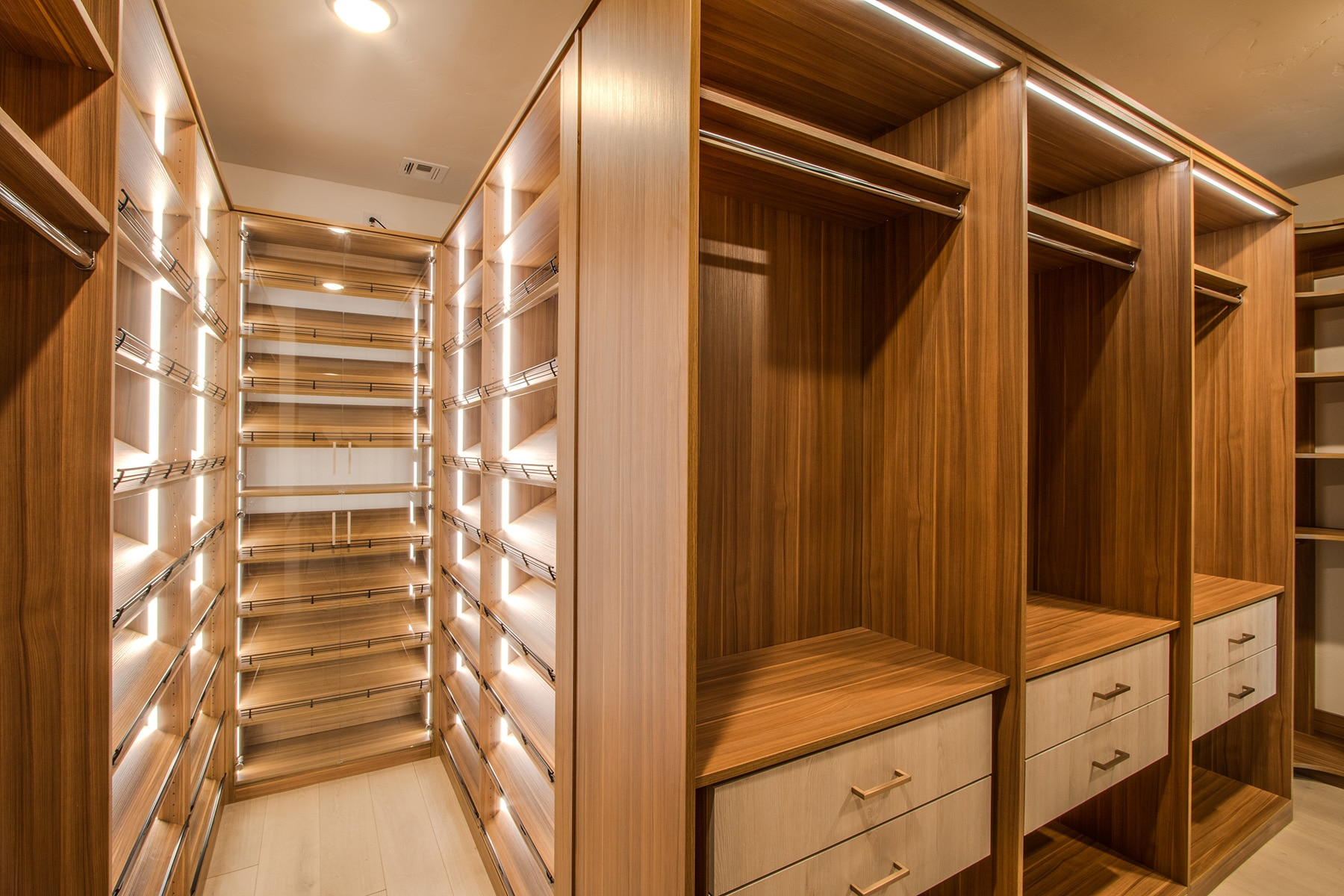 Building A Luxury Walk In Closet For A High End Summerlin Builder Home In Las Vegas