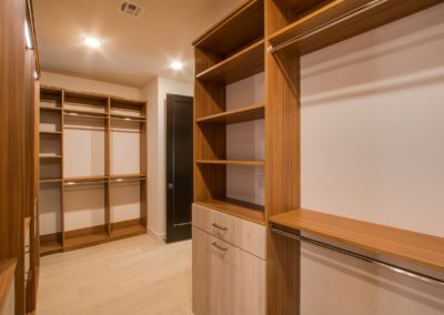 Space-Efficient, Luxury Walk-in Closet with Long Hang Double Hang Shelves Las Vegas