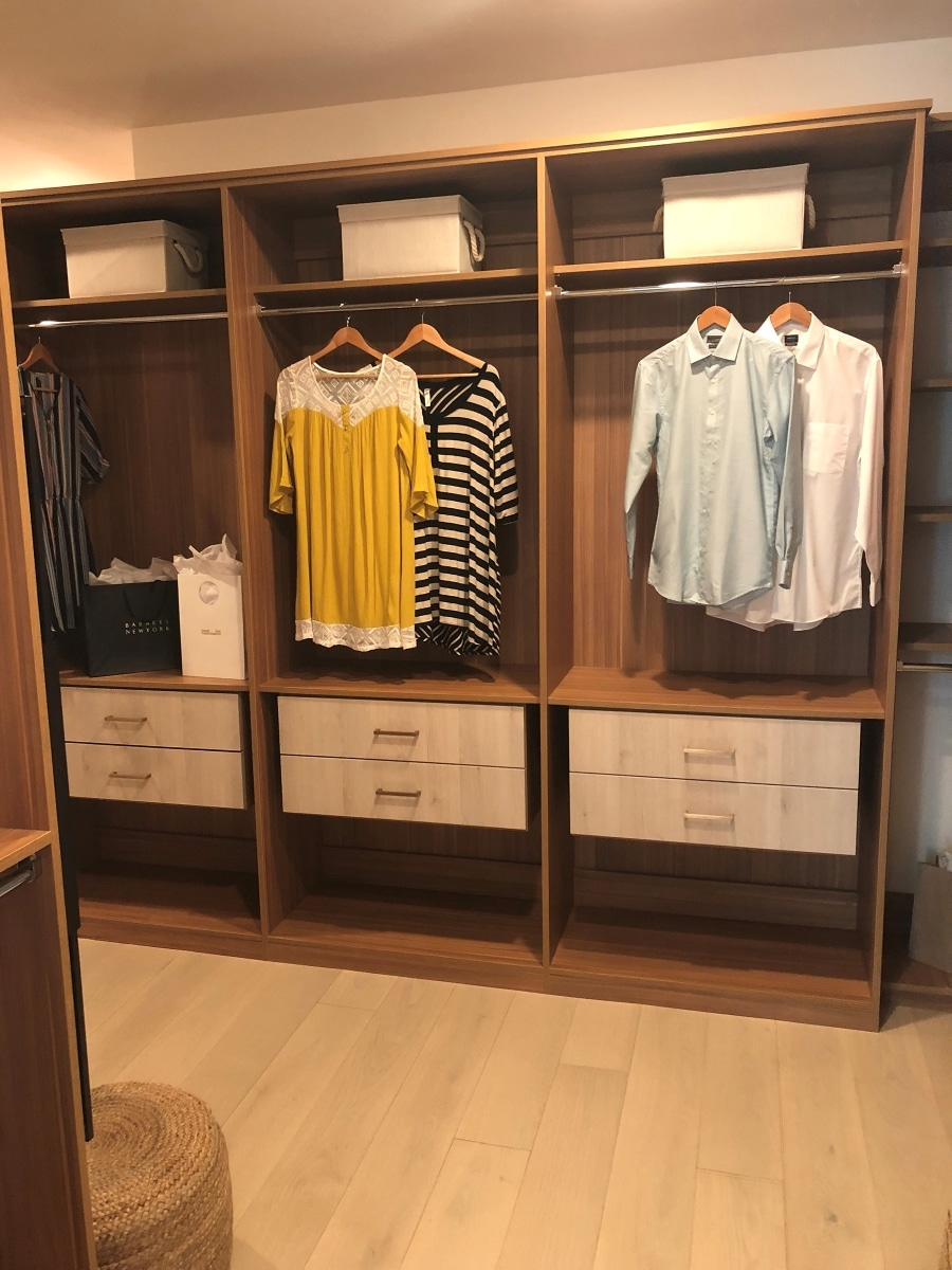 See more Classica wood organizer options for your walk-in closets!