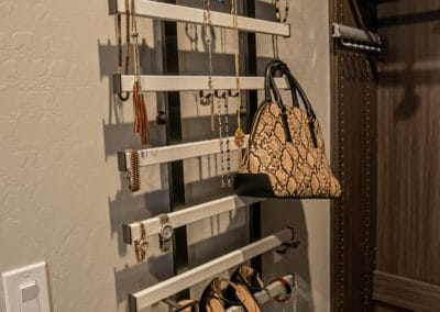 Looking to create a unique shoe rack or jewlery station in your own custom closet? Reach out to Closets Las Vegas!