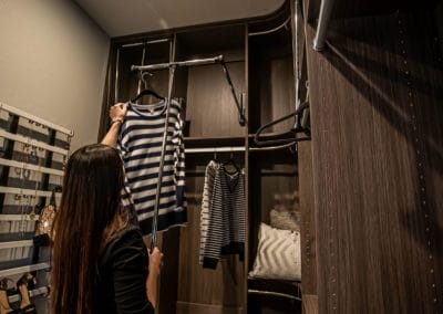 Get started on your closet system, and don't forget to ask about if a pull down closet is right for your vision!