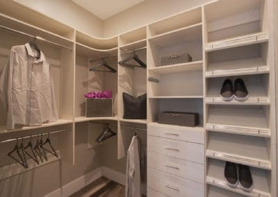 Explore the possibilities of a white closet--take a closer look at this custom closet system for inspiration!
