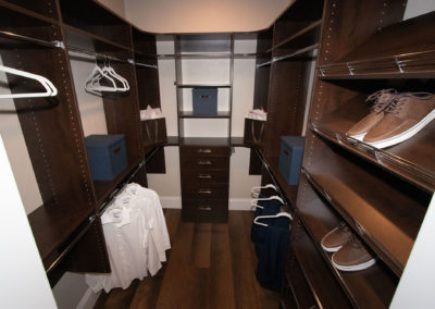 Soak in this warm, traditional custom closet system in Las Vegas!