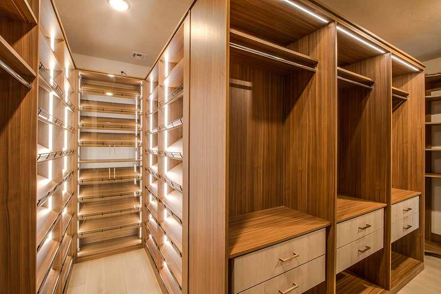 Bright and Clean! This luxury closet system provides a light feeling while utilizing the fuctionality of the space--check it out!