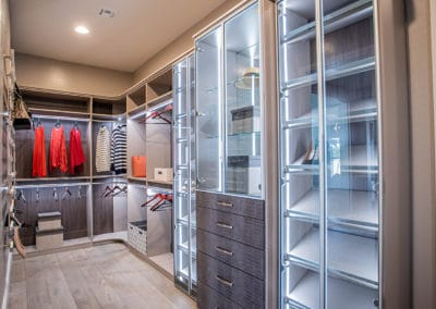 Explore the fine details included to create this high-end closet design in a luxury, Las Vegas model home!