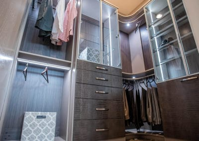 Check out these Crocodile Textured Drawer Fronts in this High-End Closet Design in Las Vegas!