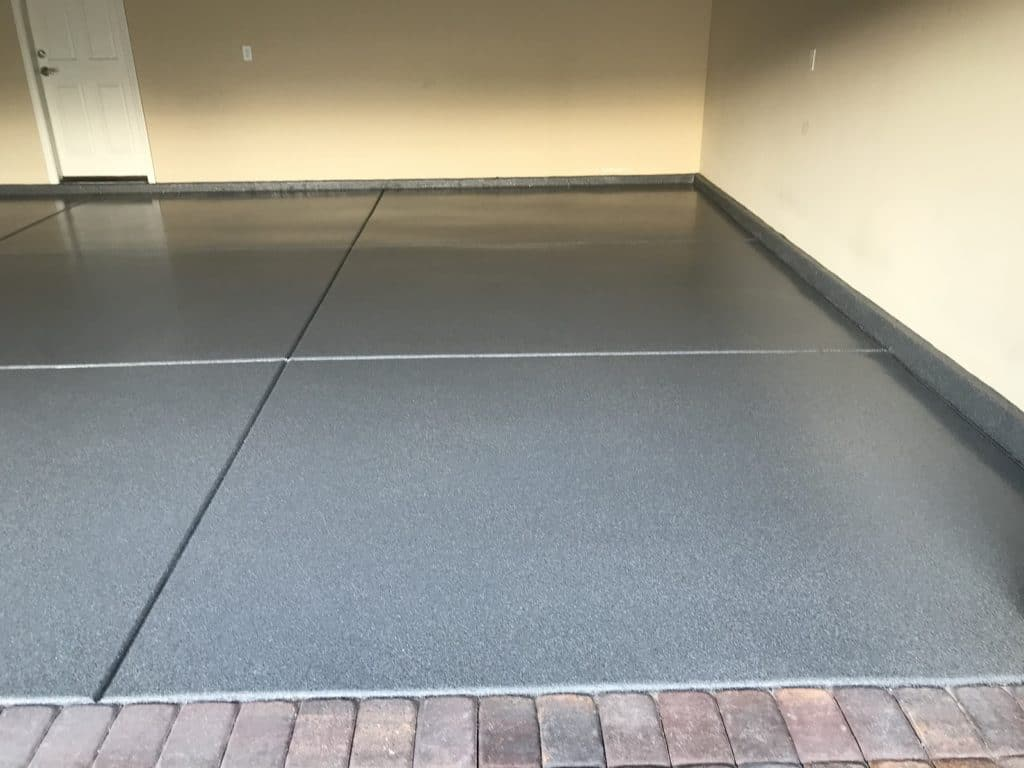 Results after a floor epoxy coating for a residential garage in Las Vegas