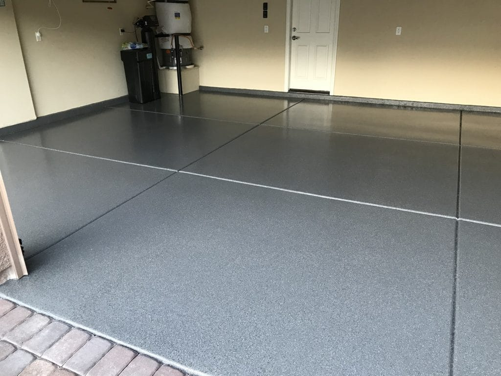 After photo of residential garage in Las Vegas with premium garage floor coating and floor epoxy coating