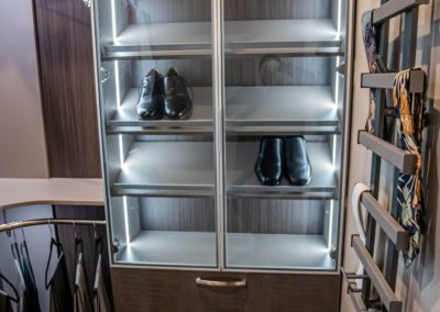 for him shoe rack in a high end custom closets in las vegas