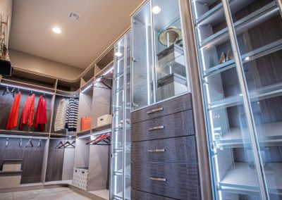 Modern and luxurios looking Las Vegas high end custom closets for her