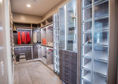 For her high end custom closets in Las Vegas with sophisticated features