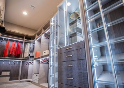 Las Vegas stylish and modern expensive walk in closets