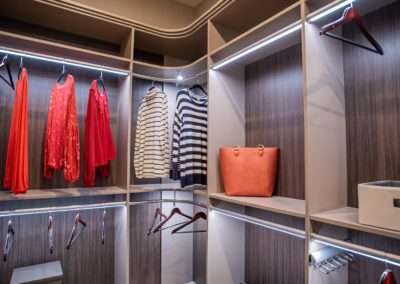 Smart lighting system for a high end custom closets for her in Las Vegas