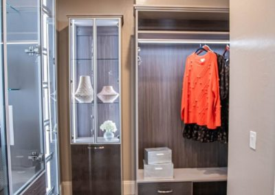 sophisticated features and modern design Las Vegas high end custom closet