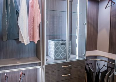 luxury closet design crocodile texture drawers and lighted display cabinet with hampers