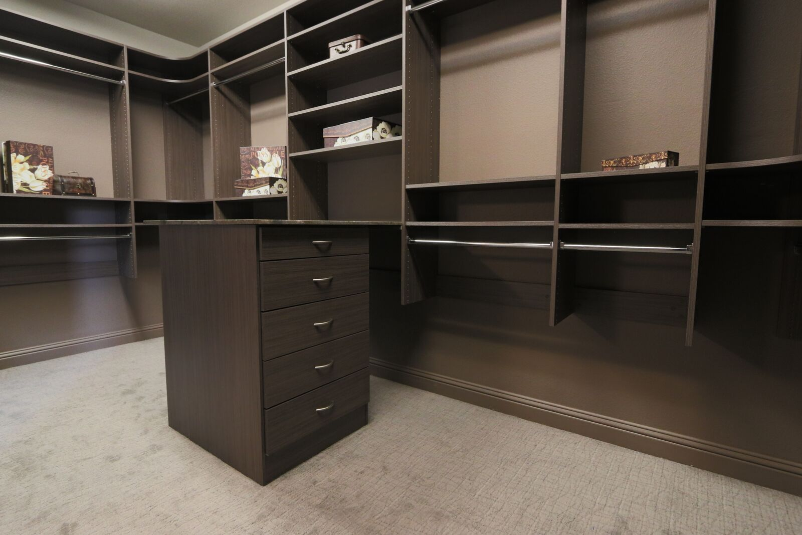 Classica High-End Walk In Closets Driftwood Live