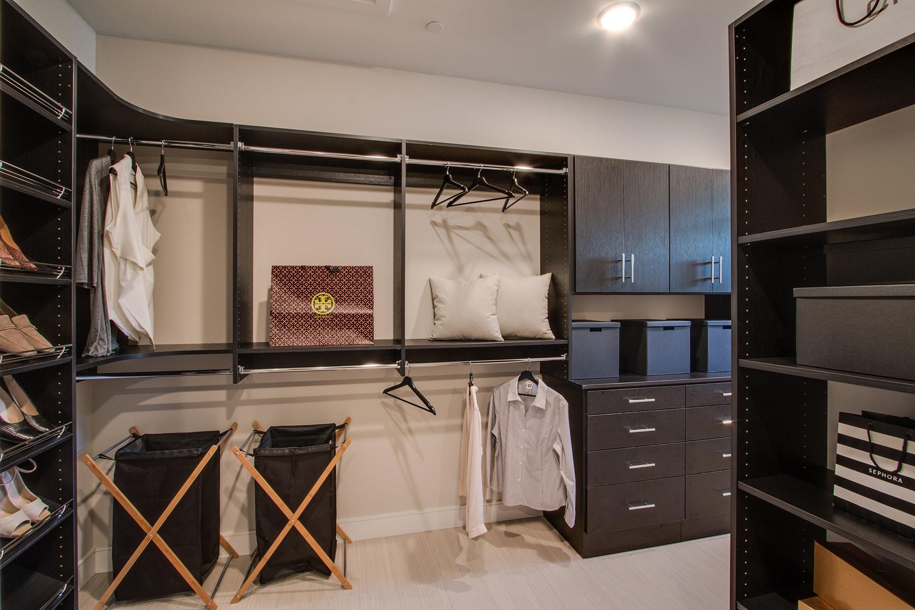 Contemporary Corner Closet Storage