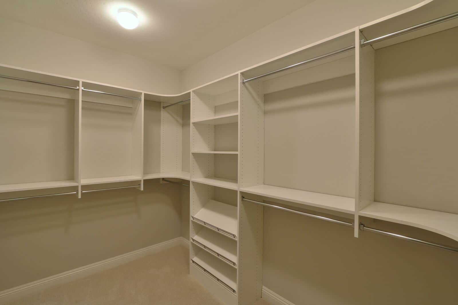 White Painted Simple Walk in Closet Design
