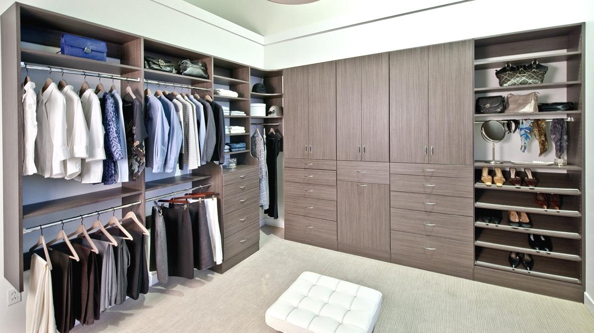 Master Walk in Custom Closet Design by Closets Las Vegas