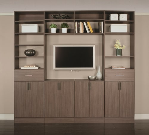 Take a closer look at this Classica floor-mounted organizer in driftwood live - closet design ideas by Closets Las Vegas
