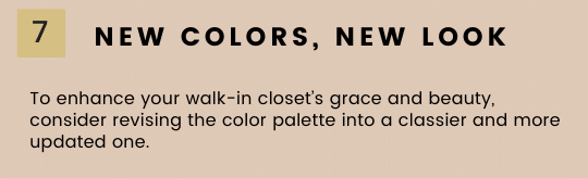 Give your closet a new look by revising your color palette.